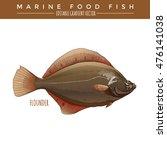 flounder. marine food fish | Shutterstock .eps vector #476141038