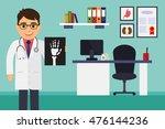 medical office. male doctor... | Shutterstock .eps vector #476144236