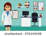 medical office. female doctor...   Shutterstock .eps vector #476144248