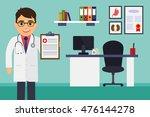 medical office. male doctor... | Shutterstock .eps vector #476144278