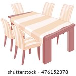 illustration of a dining table | Shutterstock .eps vector #476152378