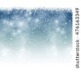 blue background with snowflakes | Shutterstock .eps vector #476163349