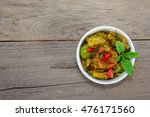 spicy fried stir catfish on... | Shutterstock . vector #476171560
