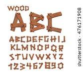 wood font. old boards alphabet. ...   Shutterstock . vector #476171908