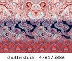 fabric printing design | Shutterstock . vector #476175886