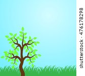 eco tree  isolated on blue... | Shutterstock .eps vector #476178298