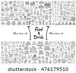 vector set with hand drawn... | Shutterstock .eps vector #476179510