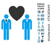 gay lovers icon and bonus... | Shutterstock . vector #476183644