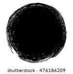 grunge round shape stamp banner.... | Shutterstock .eps vector #476186209