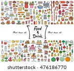 vector set with hand drawn... | Shutterstock .eps vector #476186770