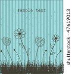 grunge floral background.... | Shutterstock .eps vector #47619013
