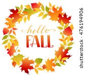 wreath of autumn colorful ...   Shutterstock .eps vector #476194906