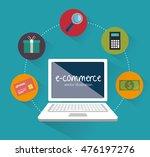 web shopping ecommerce online... | Shutterstock .eps vector #476197276