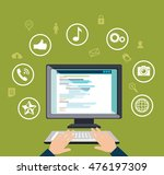 blog management social media... | Shutterstock .eps vector #476197309