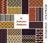 autumn seamless pattern set.... | Shutterstock .eps vector #476198248