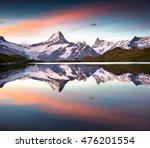 wetterhorn peak reflected in... | Shutterstock . vector #476201554