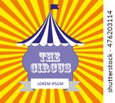 circus card design. vector... | Shutterstock .eps vector #476203114
