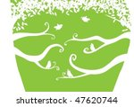 birds on trees   Shutterstock .eps vector #47620744