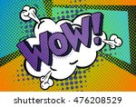 wow word bubble. wow message in ... | Shutterstock .eps vector #476208529
