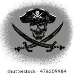 pirate skull | Shutterstock .eps vector #476209984