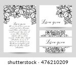 romantic invitation. wedding ... | Shutterstock .eps vector #476210209