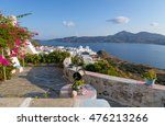 old well and typical cycladic...   Shutterstock . vector #476213266