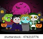 halloween background  trick or... | Shutterstock .eps vector #476213776