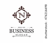 n letter vector logo template ...   Shutterstock .eps vector #476216698