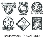 fighting club mma lucha libre... | Shutterstock .eps vector #476216830