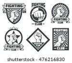 fighting club mma lucha libre... | Shutterstock .eps vector #476216830