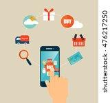 online shopping. business... | Shutterstock .eps vector #476217250