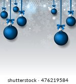 christmas background with blue... | Shutterstock .eps vector #476219584