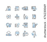 set of thin line business icons | Shutterstock .eps vector #476230069