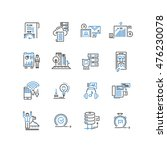 set of thin line business icons | Shutterstock .eps vector #476230078