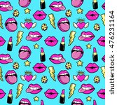 seamless pattern with fashion... | Shutterstock .eps vector #476231164