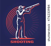 shooting. logo illustration on... | Shutterstock .eps vector #476233984