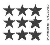 set of grunge star brush... | Shutterstock .eps vector #476236480
