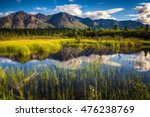 View Of A Mountain Range In...