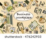business workplace with people...   Shutterstock .eps vector #476242933