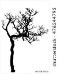 tree of vector  silhouette of... | Shutterstock .eps vector #476244793