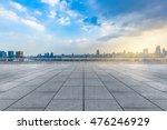 empty brick floor with city... | Shutterstock . vector #476246929