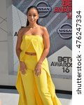 Small photo of LOS ANGELES, CA. June 26, 2016: Actress/singer Mya at the 2016 BET Awards at the Microsoft Theatre LA Live.