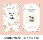 wedding set. romantic vector... | Shutterstock .eps vector #476249440