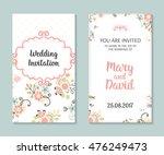 wedding set. romantic vector... | Shutterstock .eps vector #476249473