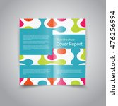 vector two fold brochure design ... | Shutterstock .eps vector #476256994