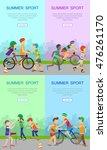 summer sport banners set.... | Shutterstock .eps vector #476261170