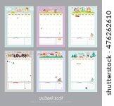 cute calendar template for 2017.... | Shutterstock .eps vector #476262610