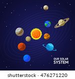 solar system planets and sun.... | Shutterstock .eps vector #476271220