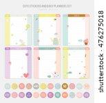 cute daily calendar template.... | Shutterstock .eps vector #476275018