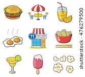 fast food restaurant  icons set ... | Shutterstock . vector #476279500